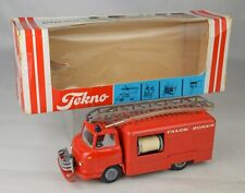 "Tekno #459 Volvo Fire Truck W/Clear Hoses Diecast 5 3/4"" Long Denmark N Mint/Box"