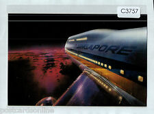 C3757xryt Singapore Airlines 747 Big Top postcard