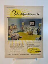 1951 Dominion Battleship Linoleum - Imperial Furniture - Magazine Ad