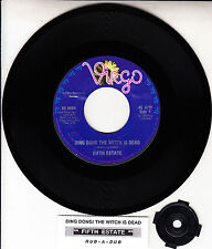 "FIFTH ESTATE  Ding Dong The Witch Is Dead 7"" 45 record + juke box title strip"