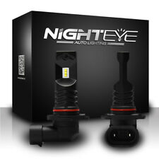 NIGHTEYE 160W H10 LED Fog Light Bulbs DRL Replace Halogen Lamp Xenon White