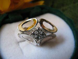 Gold 585 Einhänger für Perlenketten mit 4 Diamanten, ca. 3,59 gr. / aus Nachlaß