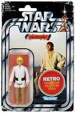 "Star Wars Retro Collection Luke Skywalker 3.75"" 70's Vintage Style Action Figure"