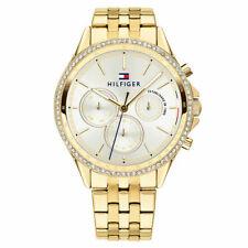Brand New Tommy Hilfiger Ladies Gold Ari Chronograph Gold Diamond Watch 1781977