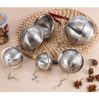 Tea Ball Stainless Steel Sphere Mesh Strainer Filter Spice Infuser Soup