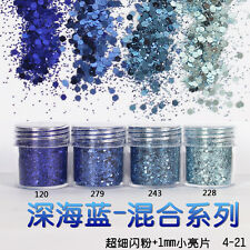 Nail Art Glitter Powder Dust For UV Gel Acrylic Powder Sequins Decoration Tips