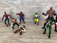 Lot Of 7 Loose in  Marvel Legends Spider man & Various Action Figures!