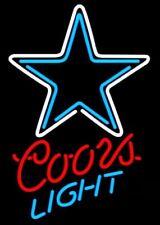 "Dallas Cowboys Coors Light Neon Sign 17""x14"" Pub Beer Light Bar Christmas"