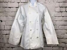 Nwt Chef Works White Jacket Long Sleeve Chef Coat Shoulder Spoon Pocket Size Xs