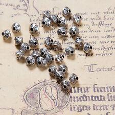 30 Metallperlen BICONE 6mm Antik silber Spacer Perlen Zwischenperlen Schmuck