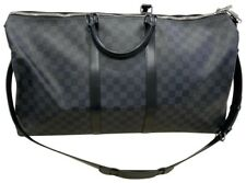 Authentic LOUIS VUITTON Keepall Bandouliere Bag 55 Damier Graphite VGC