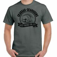 Grandad & Grandsons T-Shirt Best Friends For Life Mens Funny Father's Day Gift