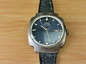 Oris Super (Cal 484KIF) Mens 17 Jewels Date Watch, Circa 1970s, Working