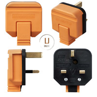 Permaplug 13A 3 Pin Heavy Duty Mains Rubber Body 13 Amp Electrical Plug Orange