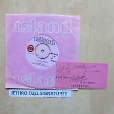 "JETHRO TULL Song For Jeffrey UK orig 7"" company sleeve with signed Island promo"