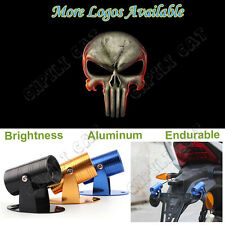 3D Skull Punisher Logo Motorcycle Laser Projector Ghost Shadow CREE LED Light