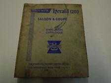 Triumph Herald 1200 Saloon & Coupe Spare Parts Catalog Manual Stanpart Book ***
