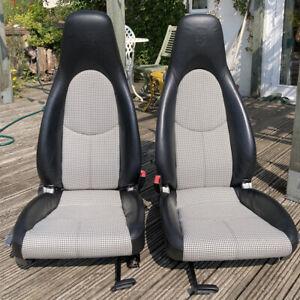 Porsche Embossed Pepita Houndstooth Seats 911 987 997 Cayman Boxster Retro