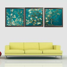 UNFRAMED Set of 3 Van Gogh Almond Blossom Wall Canvas Print Poster High Quality