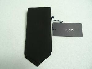 PRADA Men's Pocket Square Black NEW