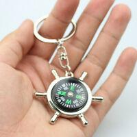 New Fashion Compass Metal Car Keyring Keychain Key Chain Ring Keyfob Gift Pop