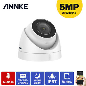 ANNKE 5MP HD Audio IP Network Security Dome PoE Surveillance Camera Night Vision