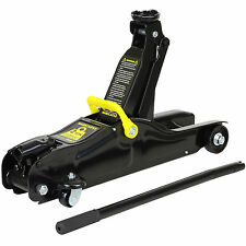 HARDCASTLE BLACK 2 TONNE LOW PROFILE HYDRAULIC TROLLEY JACK TWO TON/2000KG GS/CE