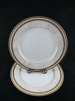 Oscar de la Renta Ivory Florentine L2359 DINNER PLATE Set of 2 Gold trim Marble