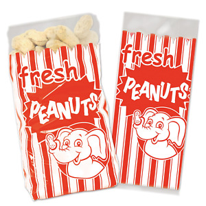 Beistle Peanut Bags   Circus & Carnival Theme Birthday Party Supplies (50 Count)
