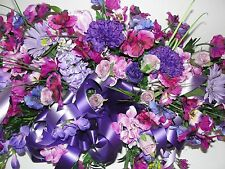 Purple Pansy Grave Pillow Silk Cemetery Wildflowers Easter Mothers Day Floral