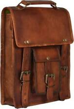 Bag Leather Laptop Messenger Briefcase Vintage Satchel Shoulder Genuine Mens Bag