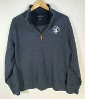 Lands' End Men's Blue Pull Over Long Sleeve 1/4 Zip Up Sweater Size Large 42-44