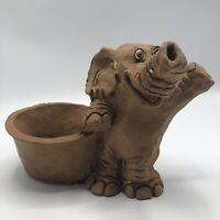 "Dave Grossman Designs Inc. 1977 Elephant Planter Pot St. Louis 9""Lx7""T Sculpture"