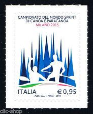 ITALIA 1 FRANCOBOLLO CAMPIONATO DEL MONDO SPRINT DI CANOA PARACANOA 2015 nuovo**