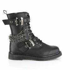 Boots unisexe Bolt 250 style punk rock emo goth noir bottines avec chaîne et zip