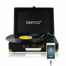 Portable Vinyl Record Player 3-Speed Turntable Stereo RCA MP3 w/ Radio Speakers
