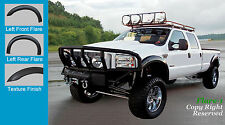 FENDER FLARES EXTENSION Style 99-07 Ford F-250 F-350 450 ROUGH TEXTURED FULL SET