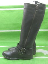 new Steve Madden BLACK SAVIORR-017 Leather KNEE Sexy Boot Size 6