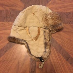 Rabbit Fur Bomber Winter Hat Flaps Warm XL