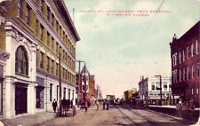 FOURTH ST., LOOKING EAST FROM BROADWAY, PITTSBURG, KS. 1909