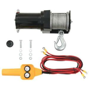 12V Car Vehicle Electric Hoist Winch Wire Remote Control. Rope 15M. 907kgs Max