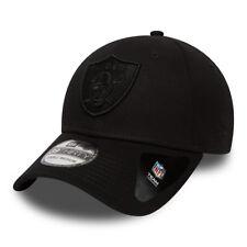 NEW ERA MENS 39THIRTY BASEBALL CAP.OAKLAND RAIDERS NFL STRETCH FIT BLACK HAT 8W1