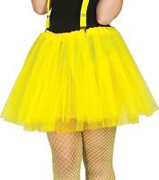 Ladies Neon Tutu 80s 1980s Eighties Disco Hen Pink Yellow Yellow Fancy Dress