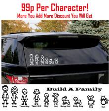 MY CAR STICK FAMILY Car Window Vinyl D.e.c.a.l S.t.i.c.k.e.r Plus Included