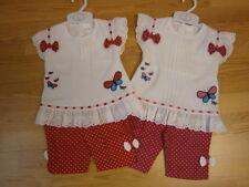 Baby Girl  Spanish Top & leggings Polka dot pink red 6-12 12-18 18-24 months