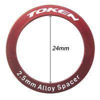 Bottom Bracket Part Alloy Spacer Φ24x2.5 mm TOKEN