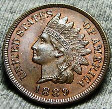 1889 Indian Head Cent Penny --- GEM BU++ Condition --- #W312