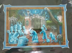 Disney Parks  The Haunted Mansion Deluxe Print By Craig Fraser 50th Anniversary
