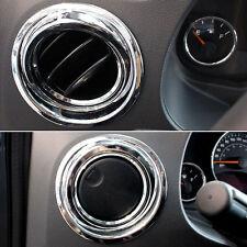 Chrome Interior Center Dashboard Air Outlet AC Vent Trim for Compass 2011-16