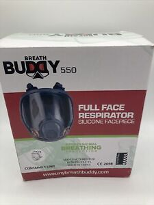 Breath Buddy Full Face Respirator Breathing Mask Air Filter - Reusable